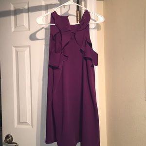 Loft cap purple dress